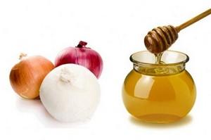 Сок репчатого лука с мёдом