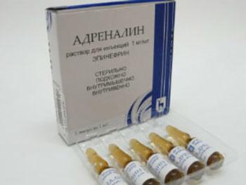 Образец препарата - Адреналин