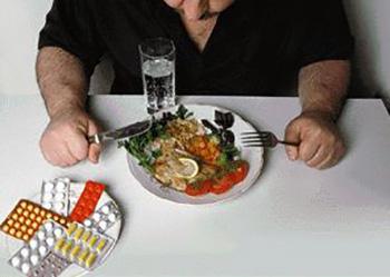 После еды