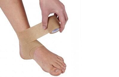 Наложение на ногу