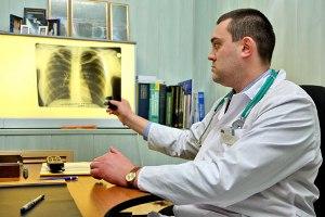 Оценка врачом результатов рентгенологического исследования легких постинсультного больного