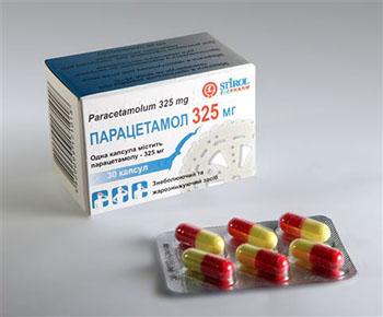 Пачка парацетамола