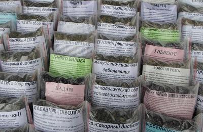 Упаковки трав